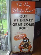 RARE NATIONAL BOHEMIAN BEER MR NATTY BOH BAR DISPLAY SIGN BALTIMORE MD ORIOLES