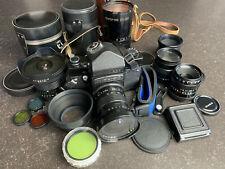 Black KIEV 60 6x6 Medium format camera + 5 lenses and acc. (Arsat Vega Zodiak)
