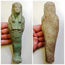RARO Antico egyptain tolemaica Blu faeince Faience ushabt 300-350 A.C.