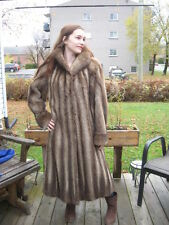 #G4 gota have it muskrat fur coat light brown size small fit 6/7