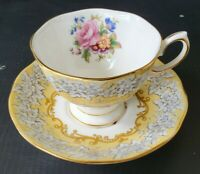 Scarce Royal Albert Affection Teacup and Saucer Set Bone China England RARE