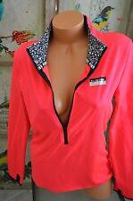 Victoria's Secret love pink sweatshirt Crew jacket athletic ultimate zip small S