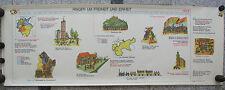 Wandbild Geschichtsfries Reichseinigung 1815-48 139x50 vintage wall chart 1965