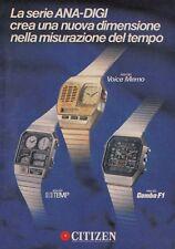 X3012 Orologi CITIZEN serie ANA-DIGI  - Pubblicità d'epoca - 1984 advertising