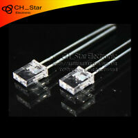 100pcs 2x5x7mm Square LED Diodes Water Clear Warm-White Rectangle Rectangular