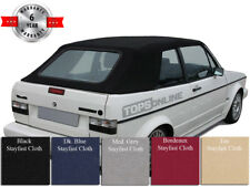 VW Rabbit Cabriolet Golf Convertible Soft Top Cover & Install Video, 80-94 Cloth