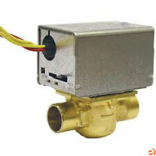 "Honeywell Motorized Low Voltage Normally Closed Zone Valve, 3/4"" Pipe, Sweat ."