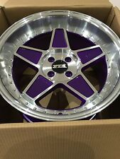 "FYK ED3 17"" 8.5j 10j 4x100 Alloy Wheels EURO DRIFT BBS RS XXR BMW E30 VW Golf"