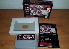 NHLPA Hockey 93 Super Nintendo (SNES) juego en caja y COMPLETO-PAL
