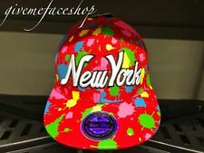 New York splash snapback baseball hats, caps adults & kids bling urban hip hop