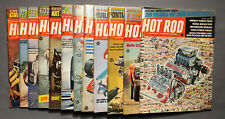 VINTAGE 1968 HOT ROD MAGAZINES (12) A WHOLE YEAR GOOD CONDITION HOT RODS CUSTOMS