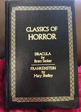 Classics of Horror Dracula Bram Stoker Frankenstein Mary Shelley HC (B20)