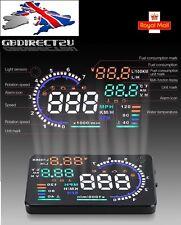 NEW 2017 UK 5.5inch Full Colour Car HUD Head Up Display + OBD2 Interface Plug