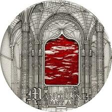 Palau 2011 $10 Tiffany Art 2011 - Manueline 2 Oz Silver Coin