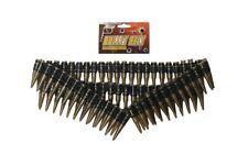 96pc Plastic Fake Bullet Belt Soldier Army Rambo Bandit Fancy Dress