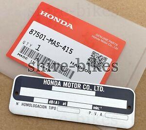 NEW Genuine Honda Frame Plate for CBR900 CM125 FES250 NTV650 ST1100 ST1100