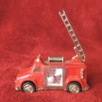 Vintage Red Fire Truck Clock