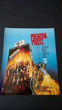 """Judas Priest """"Fuel For Life"""" (1986) Rare Original Print Promo Poster Ad"""