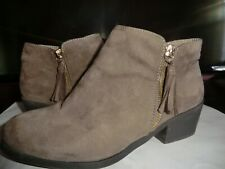 BROWN SUEDE ANKLE BOOTS BY 'NEW LOOK' SIZE 5