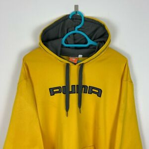 Vintage Puma Yellow Spellout Hoodie