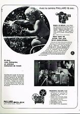 C- Publicité Advertising 1966 Camera 16 mm et projecteur Paillard Bolex S 221