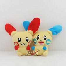 Lot 2 New Pokemon PLUSLE & MINUN Plush Doll Soft Toys 4'' 10cm Set