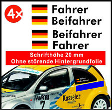 4 x Rally Racing Tuning Motorsport DTM Styling Name & Flagge Aufkleber 20mm Höhe