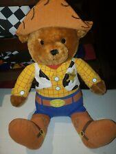 "Disney Toy Story 3 Teddy Bear Sheriff Woody Plush Toys R Us 17"" Stuffed Animal"