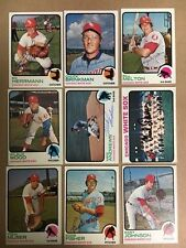 1973 White Sox Signed Card Lot(9)Tanner,Wood,Melton,Fisher,Muser,Herman,ANdrews