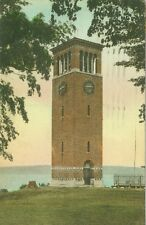 Chautauqua, NY The Miller Bell Tower.Chautauqua Institution Hand Colored 1927