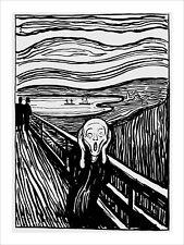 Munch - The Scream black & white fine art giclee print poster - various sizes