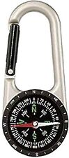 Silver Professional Carabiner Compass (110mm)