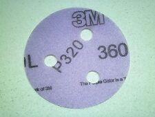 "3"" Inch - [QTY - 100] 3M HOOKIT  Hook & Loop Discs - 3 Hole - 320 Grit LR"