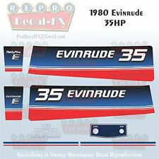 1980 Evinrude 35 HP Two Stroke Outboard Repro 10 Pc Marine Vinyl Decals 35RCS