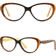Oval Damenbrille Kunststoff Federscharniere Fassung Plastik Brillegestell Cateye