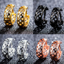 Women's Luxury Copper Hollow Party Pub Huggie Earrings Ear Clips Jewelry Latest