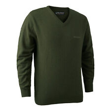 Deerhunter Brighton Knit V Neck Jumper Sweater Green Country Hunting Shooting