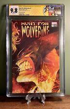 "Hunt for Wolverine #1 CGC SS 9.8 ""Remastered"" Variant 1:500 Signed Adam Kubert"