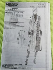 Patron de couture femme manteau lainage