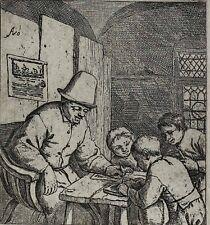 Adriaen Jansz Van Ostade Dutch 1610-1685 Etching The School Master