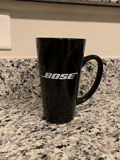Tall Black Coffee Mug (16 Oz) with White Bose Logo