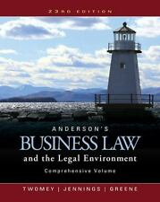 Anderson's Business Law and the Legal Environment (BRAND NEW US HARDCOVER 23/E)