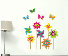 New Dream Windmill Butterfly Wall Stickers removable Vinyl Art Decor Decal Large