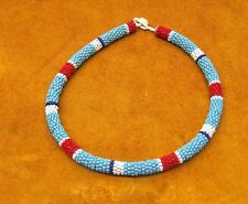 Native American rope beaded necklace