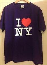 I ❤️ N Y Jerzees Purple Cotton Official Licensed Love New York T-Shirt L 44