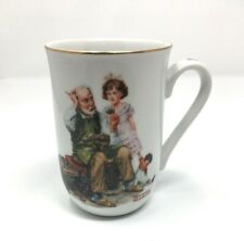 New ListingNorman Rockwell 1982 Museum Collectible Cup Mug The Cobbler Made in Japan