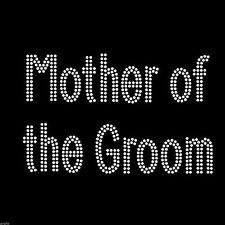 Cristal de Estrás En Hierro T Shirt Diseño-Doble línea Madre Del Novio