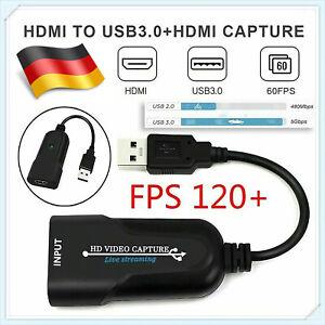 HDMI zu USB3.0 Video Capture Card  Grabber 1080P Recorder Game Live Streaming DE