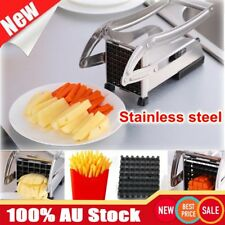 Stainless French Fries Slicer Potato Chipper Chip Cutter Chopper Maker Fast Food