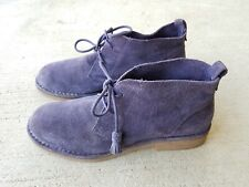 HUSHPUPPIES Purple Suede Leather Lace-Up Casual Shoes Size 9.5M Women